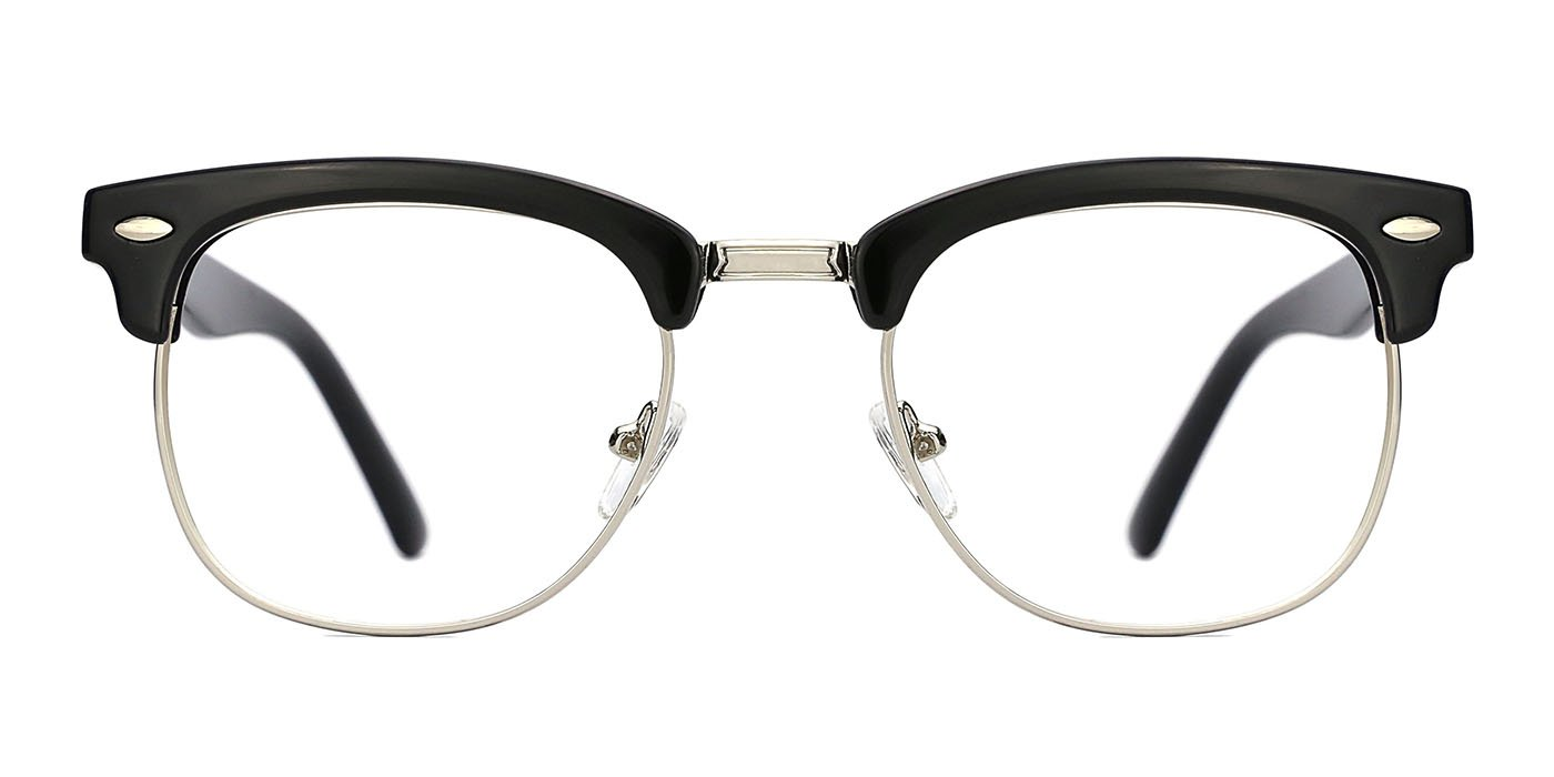 TIJN Blue Light Blocking Computer Glasses Horn Rimmed Eyeglasses,Anti Glare Fatigue Blocking Headaches Eye Strain