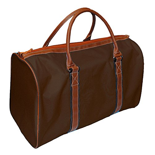 Mainstreet Collection Men's Canvas Travel Tote Overnight Duffle Bag Weekender (Brown) by MSC MAINSTREET COLLECTION