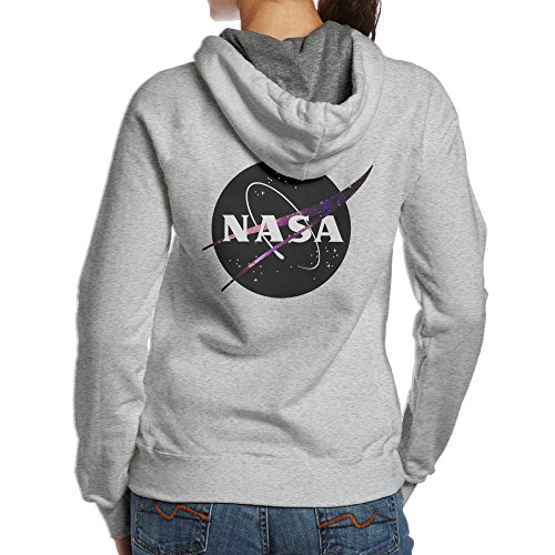 YYUCGH Nasa Women's Pullover Hooded Sweatshirt M Ash