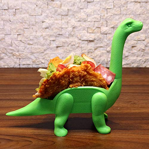 Tronet Taco Holder The Ultimate Prehistoric Taco Stand for Taco Tuesdays and Dinosaur (A, Green) by Tronet (Image #3)