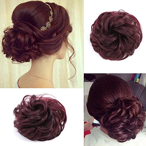 Scrunchies Extensions Chignons Ponytail Burgundy product image