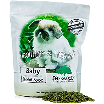 Rabbit Food, Baby by Sherwood Pet Health, 4.5 lb. - (Soy, Corn & Wheat-free) - 4.5 lb. (Vet Used)