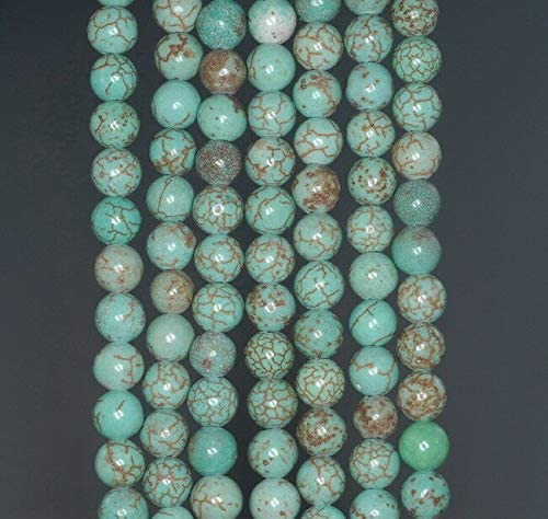 """6MM GREEN TURQUOISE GEMSTONE ROUND 6MM LOOSE BEADS 16/"""""""