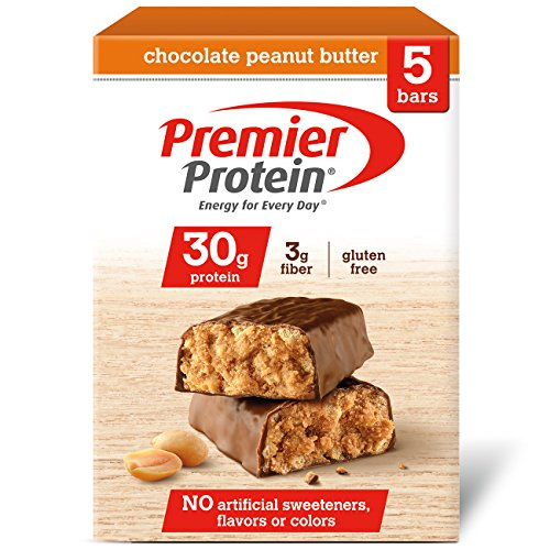 Premier Protein 30g Protein Bar, Chocolate Peanut Butter, 2.53 oz Bar, (5 ()