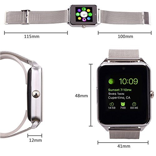 21b48073f8e 6. 7. MSRM Replaceable Band Bluetooth Smart Watch Call Sync and Handfree  Support Android 4.2 or Above and