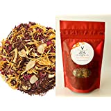 Rooibos Tea - Loose Leaf Red Tea - Almond Amaretto Biscotti (50g)- Caffeine Free Herbal Tea with real Almond Pcs - Delicious either Hot or Iced