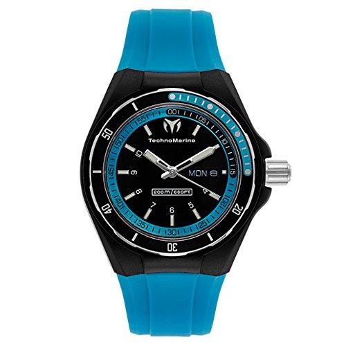 technomarine-unisex-110014-cruise-sport-3-hands-black-and-blue-dial-watch