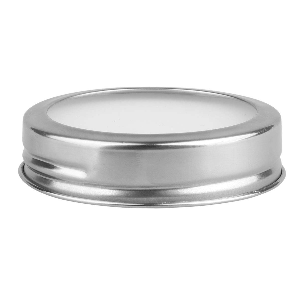 IEFIEL Rust Resistant Mason Jar Canning Lids Storage Caps with Silicone Sealing Inserts Silver 70mm