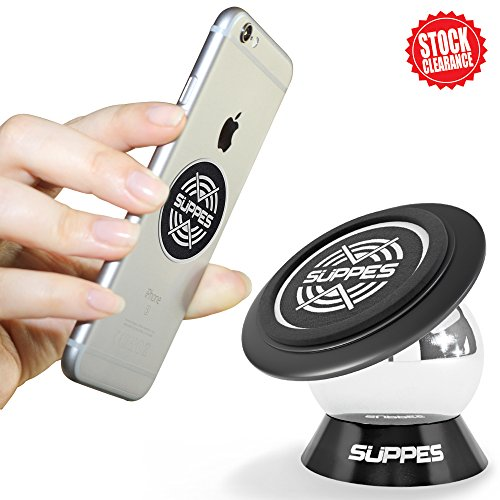 SUPPES Magnetic Car Phone Mount - 360 Dashboard Smartphone H