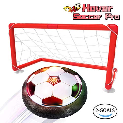 LOFEE Birthday Presents for 3-10 Year Old Boy,Indoor Hover Ball with 2 Goals Toys for 3 4 5 6 Year Old Boy Gifts for 7 8 9 Year Old Boys Black HB12]()