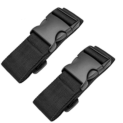Luxebell Add A Bag Luggage Straps, Suitcase Belt Travel Accessories 2-Pack (39.3inches)