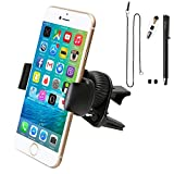 iKross Air Vent Car Vehicle Mount Holder and Stylus for Samsung Galaxy S6 Edge/ S6, Galaxy Mega 2, Galaxy Alpha, Touch3, Galaxy Note Edge/ 5 4, Galaxy S5 and more
