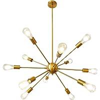 LynPon Sputnik Lámparas de araña Moderno, 12 Luces Iluminación colgante de techo,…