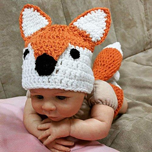 crochet newborn fox outfit newborn halloween costume size newborn 0 3m 3 6m 6 12m