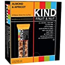 KIND Bars, Almond & Apricot, Gluten Free, 1.4 Ounce Bars, 12 Count