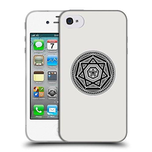 GoGoMobile Coque de Protection TPU Silicone Case pour // Q08240631 Mystique occulte 3 Platine // Apple iPhone 4 4S 4G