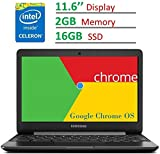 #2: 2017 Newest Samsung Chromebook 11.6'' HD LED (1366 x 768) Display, Intel Dual Core Celeron 1.6GHz Processor, 4GB RAM, 32GB eMMC SSD, Bluetooth, WiFi, HDMI, Webcam, Up to 11hrs Battery Life, Chrome OS