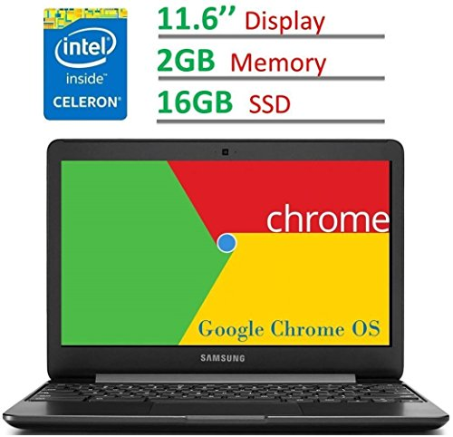 2017 Newest Samsung Chromebook 11.6'' HD LED (1366 x 768) Display, Intel Dual Core Celeron 1.6GHz Processor, 4GB RAM, 32GB eMMC SSD, Bluetooth, WiFi, HDMI, Webcam, Up to 11hrs Battery Life, Chrome OS
