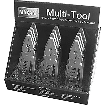Maxam MTPLIERDSP 12 Piece Multi-Tools in Countertop Display