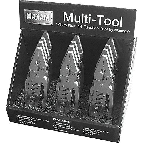 Maxam MTPLIERDSP 12 Piece Multi-Tools in Countertop Display ()