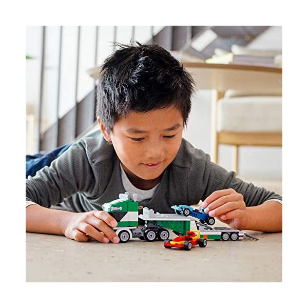 LEGO Creator 3in1 Race Car Transporter 31113 Building Kit; Makes a Great Gift for Kids Who Love Fun Toys and Creative…
