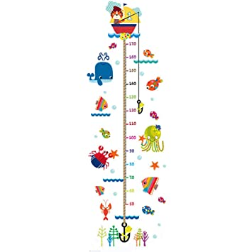 Amazon Whthteey Cartoon Child Height Measurement Wall Sticker
