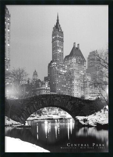 Framed Art Print, 'Central Park': Outer Size 25 x 37