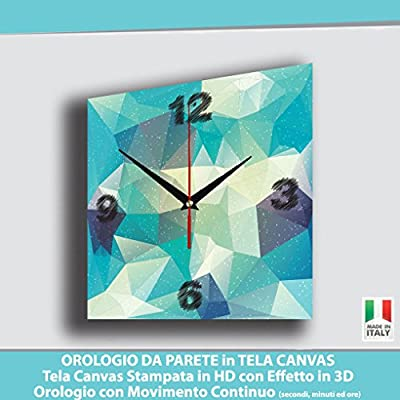 Reloj de pared sobre lienzo Canvas diseño modernos abstractos – cuadro cuadros Relojes Pared Dal design