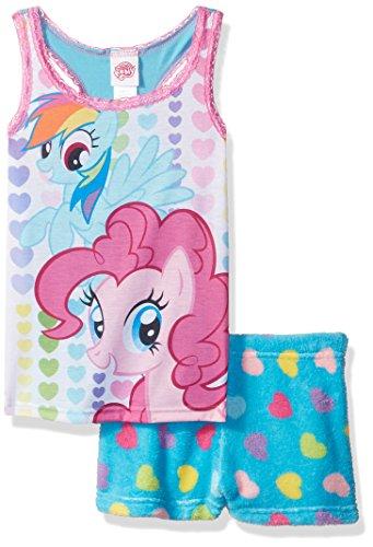(My Little Pony Big Girls' Rainbow Dash Pinkie Pie 2pc Pajama Tank Set, Assorted,)