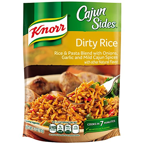 Knorr Cajun Sides Rice Side Dish, Dirty Rice 5.7 oz (pack of 8)