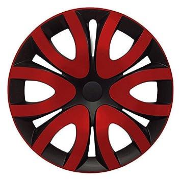 (tamaño a elegir) Tapacubos/Tapacubos Mika Negro/Rojo Apto para Casi Todos Los Tipos de vehículos (universal): Amazon.es: Coche y moto