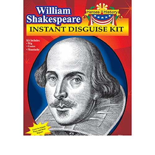 Heroes in Patriotic History Instant Disguise Set - William Shakespeare (William Shakespeare Costume)