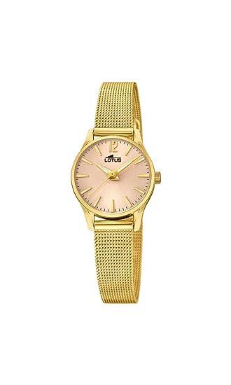 Lotus Watches Reloj Análogo clásico para Mujer de Cuarzo con Correa en Acero Inoxidable 18572/