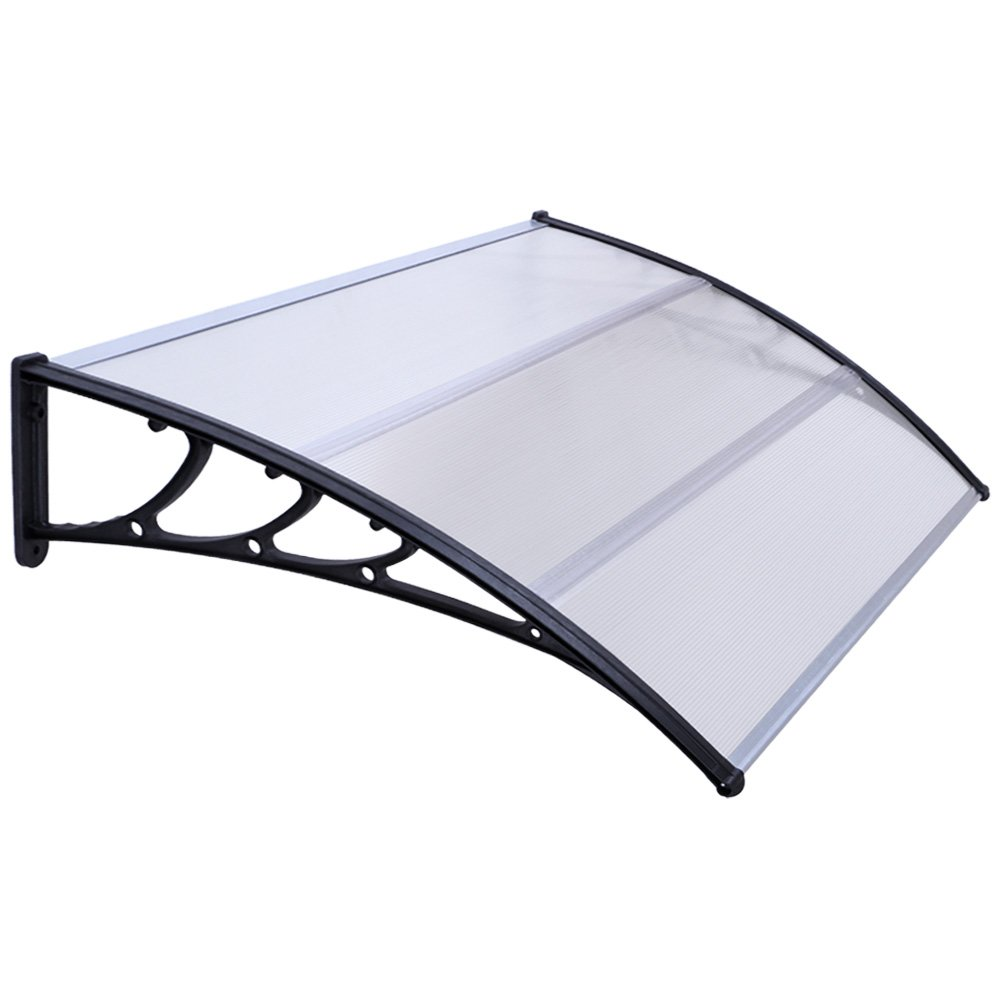 Jago Window Door Canopy Extendable Porch Awning Shelter Outdoor Garden Patio Cover (100x120 cm)