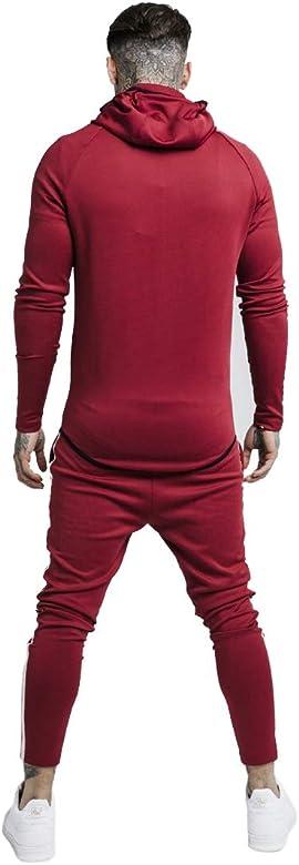 Sik Silk Pantalón Chandal Granate Hombre Gym (L): Amazon.es: Ropa ...