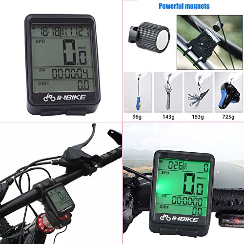 Waterproof Design 11 Function Day/Night Bicycle Computer LCD Backlight Multifunction Digital Sport Cycling Wireless Sensor Speedometer Fits All Bikes Easy Install and Operate BK141 by iGrove (Image #6)