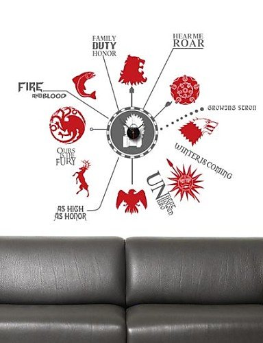 pegatinas de pared Tatuajes de pared, moderna Canción de hielo y ...