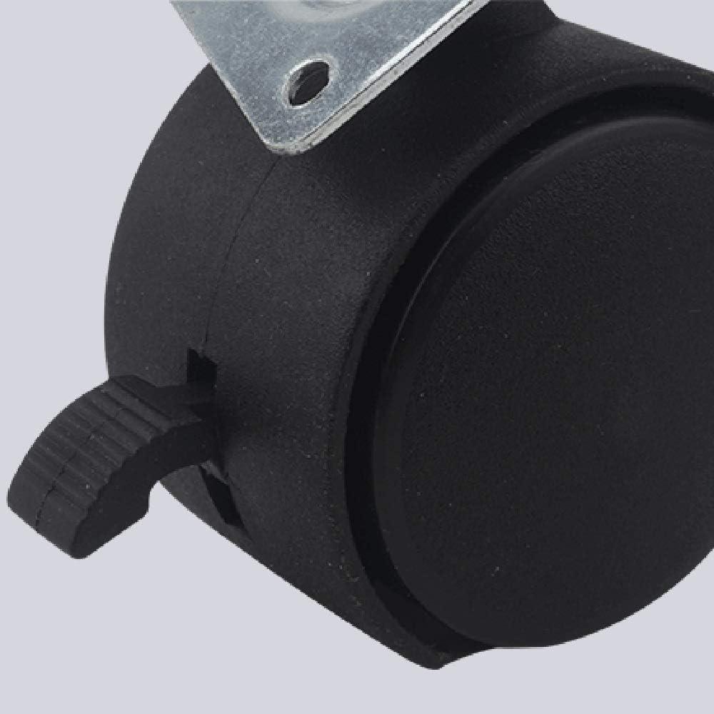 Riemenbremse Universal Byrhgood 4PCS 1,5-Zoll-Casters Schrank Flach Casters Beistelltisch Riemenscheiben Size : 1.5inches
