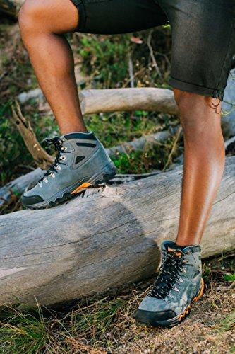 Zapatillas de senderismo Zapatos para caminar Botas de montaÐa montana Hombre GUGGEN MOUNTAIN M010 Gris