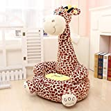 MAXYOYO Super Cute Plush Toy Bean Bag Chair Seat for Children,Cute Animal Plush Soft Sofa Seat,Cartoon Tatami Chairs,Birthday Gifts for Boys and Girls (brown giraffe)