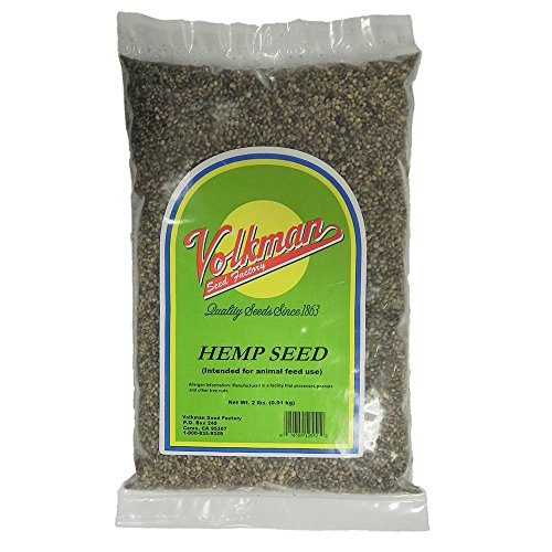 Volkman Sterilized Hemp Seed For All Seed Eating Birds 2lb Two Pack