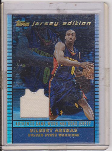 - 2003 Topps Jersey Edition Gilbert Arenas Warriors Game Used Jersey Insert Basketball Card #JE-6A