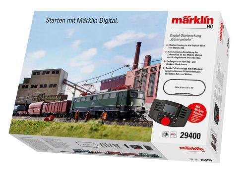 FREIGHT SERVICE STARTER SET - 3-RAIL W/DIGITAL & SOUND -- GERMAN FEDERAL RAILROAD DB CLASS 140 ELECTRIC, 4 CARS, TRACK OVAL W/SIDING