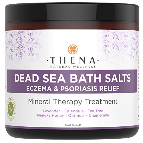 Organic Eczema Soak Bath Therapy For Babies Kids Adults, 100% Natural Itch Relief Soothe Calm Relieve Dry or Itchy Skin, Oatmeal Dead Sea Salt Lavender Essential Oil Calendula Chamomile (Sea Treatment Psoriasis Dead)