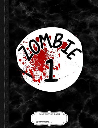Couples Zombie 1 Halloween Costume Composition Notebook: College Ruled 9¾ x 7½ 100 Sheets 200 Pages For Writing