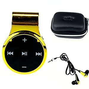 ZPS(TM) Fashion Clip-On Sport Bluetooth Headset Stereo For iPhone Samsung (Gold)