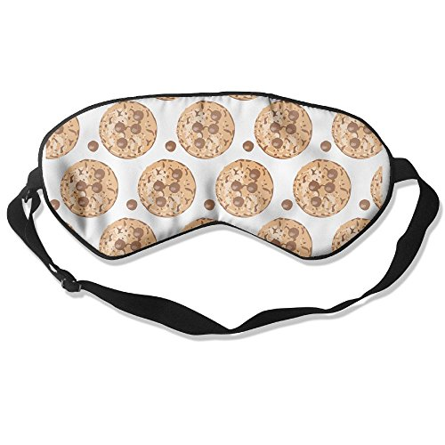 (JHXZML Chocolate Chip Cookie Fortune Cookie Silk Sleep Mask & Blindfold With Adjustable Strap)