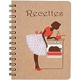 Cahier de recettes cuisinière marron