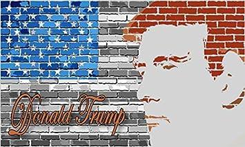 5 en X 3 en pared de ladrillo bandera de Estados Unidos Donald Trump imán vinilo magnético Bumper por stickertalk: Amazon.es: Coche y moto