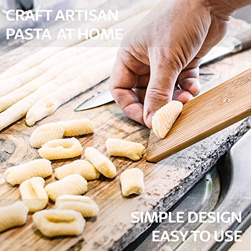Set of 2 Sustainable Wooden Paddles for Pressing and Shaping Home Made Butter and Gnocchi Plastic Free Cooking Gifts